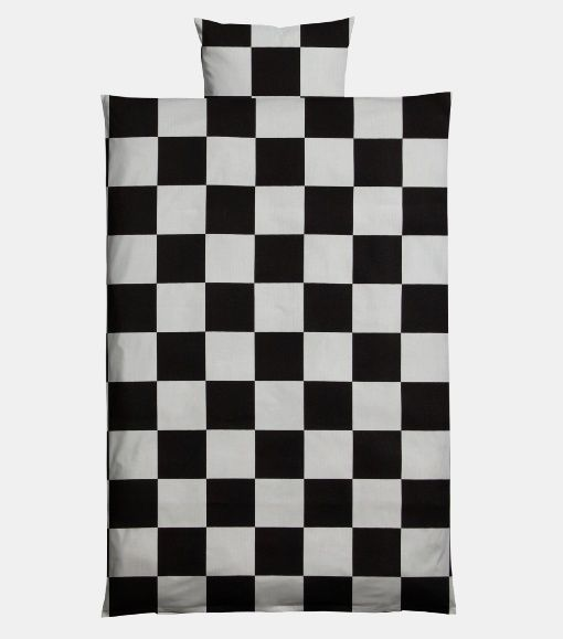 Cotton black/white big squares - Stoff & Stil