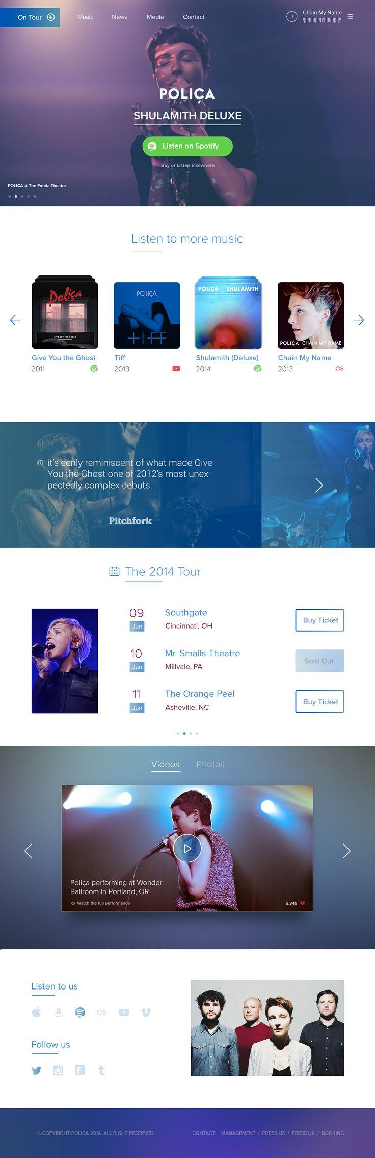 Music Web UI - Blur background - Transparent Color