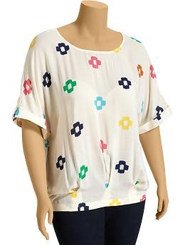 Women's Plus Printed Cuffed-Dolman Tops | Old Navy plus size $32.94