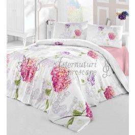 Altinbasak Hydra roz - lenjerie de pat din bumbac ranforce 2 persoane