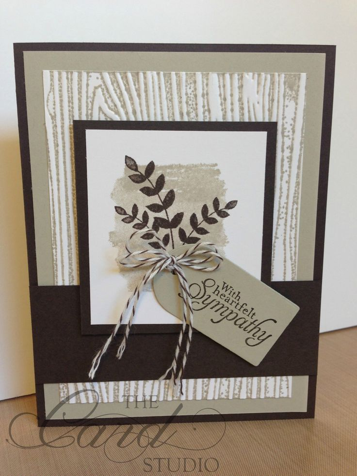 Handmade by Whitney, The Card Studio, Made with: Stampin' Up! For all things, Simply Sketched Woodgrain Embossing Folder: