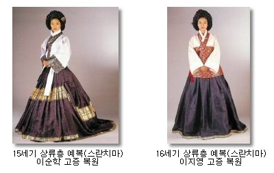 Reconstructions of 15th and 16th century hanbok. Source: http://blog.naver.com/PostView.nhn?blogId=gahee144=40051369354 But no references given :(