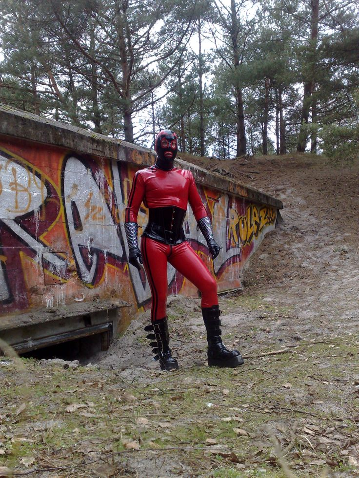 latex catsuit outdor