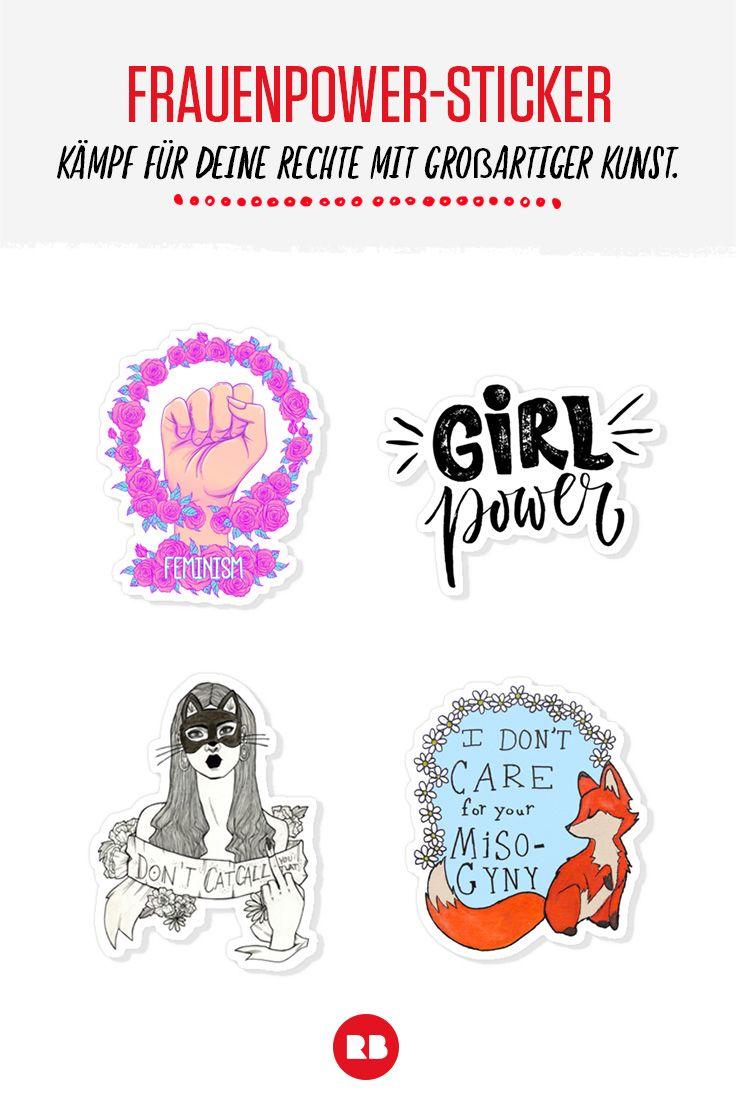 Setz ein Statement mit unseren Stickern. Mehr Frauenpower für Männer und Frauen gibt's bei Redbubble im Shop!