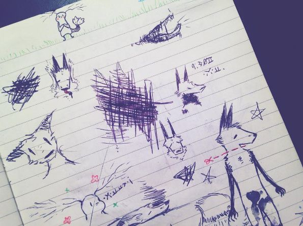 Old Scribbles by Petricher