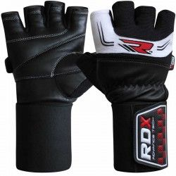 "RDX Gym Training Leather 3.5"" Weight Lifting  Gloves"