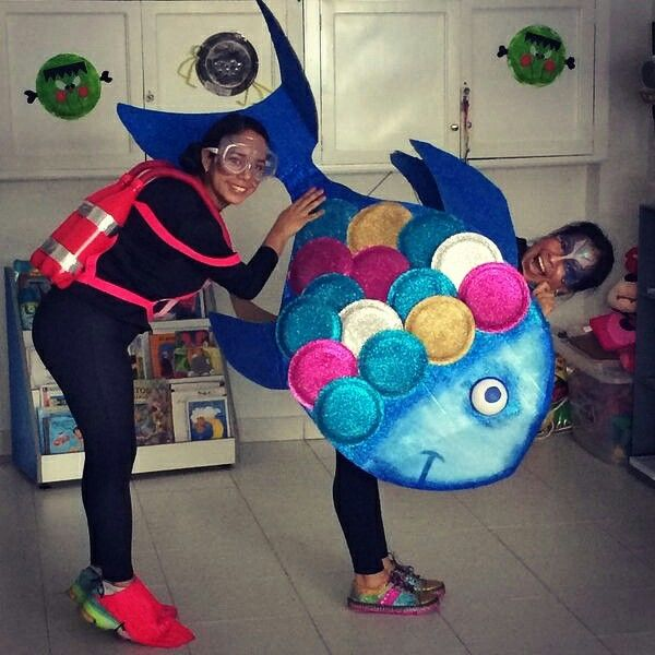17 best ideas about rainbow fish costume on pinterest for Fish costume for adults