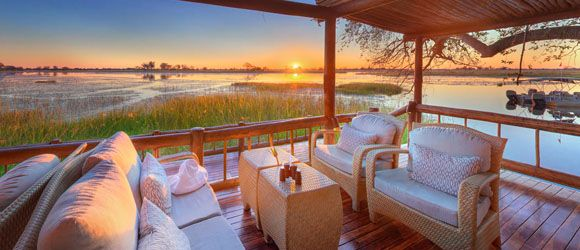 Take to the skies on a helicopter safari at Belmond Eagle Island in the Okavango Delta