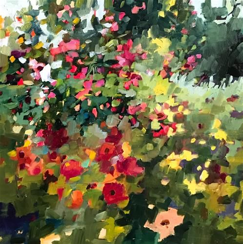 """Daily Paintworks - """"Mind Games"""" - Original Fine Art for Sale - © Libby Anderson"""