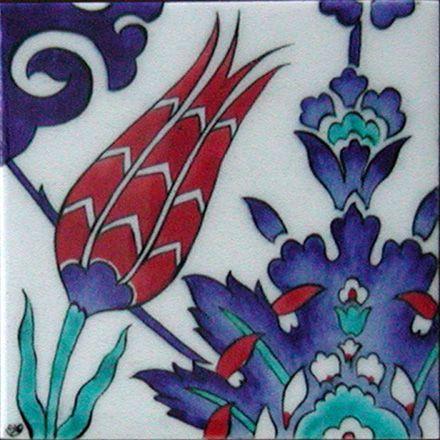 Tulip Tiles T002Tile Sizes: 12x12cm - 20x20cm - 23,5x23,5cm - 29,5x29,5cm - 41,5x41,5cm