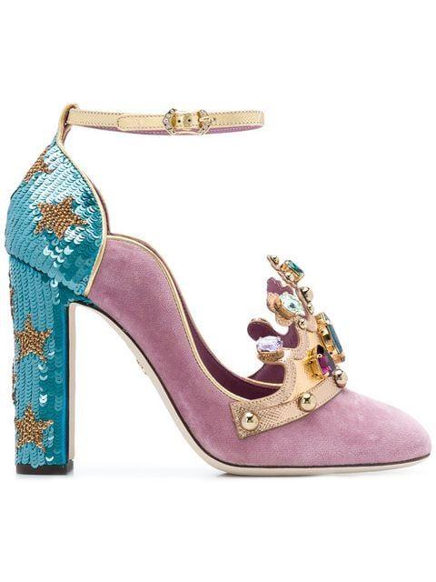 5f4d83c98043 Shop Dolce   Gabbana crown front pumps.