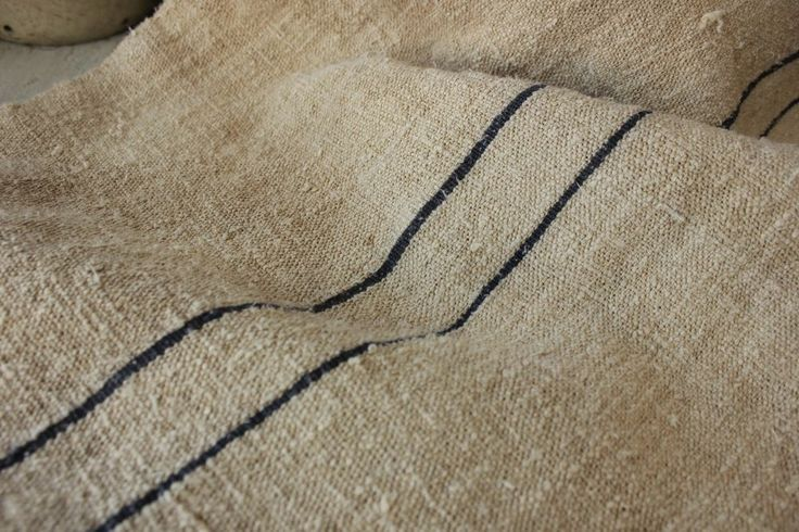 GRAIN SACK vintage grainsack linen feed bag WASHED indigo blue 19th century old~