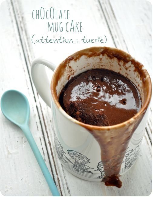 Fondant au chocolat au micro-onde sans vaisselle !! Microwave molten chocolate cake - no dishes (except the cup and spoon I'd imagine)