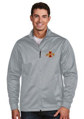 Antigua Silver Iowa State Mens Golf Jacket