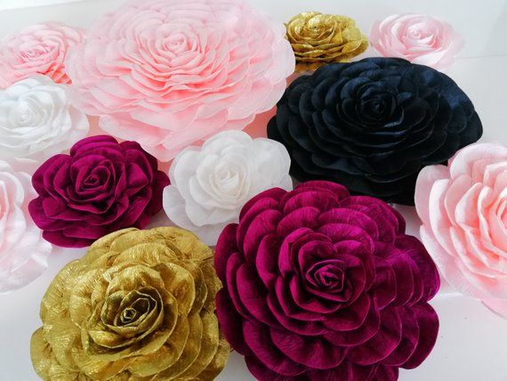 Image 0 Large Paper Flowers Nursery Wall Decor Large Paper
