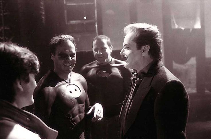 On the set of Batman (Tim Burton)