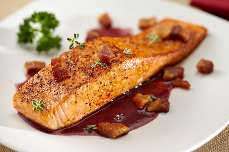 Healthy and delicious, fish dishes are a favorite for any chef searching for a new culinary adventure. The seductive aroma and rich color of the Red Wine Sauce makes this entrée a treat for your senses. more