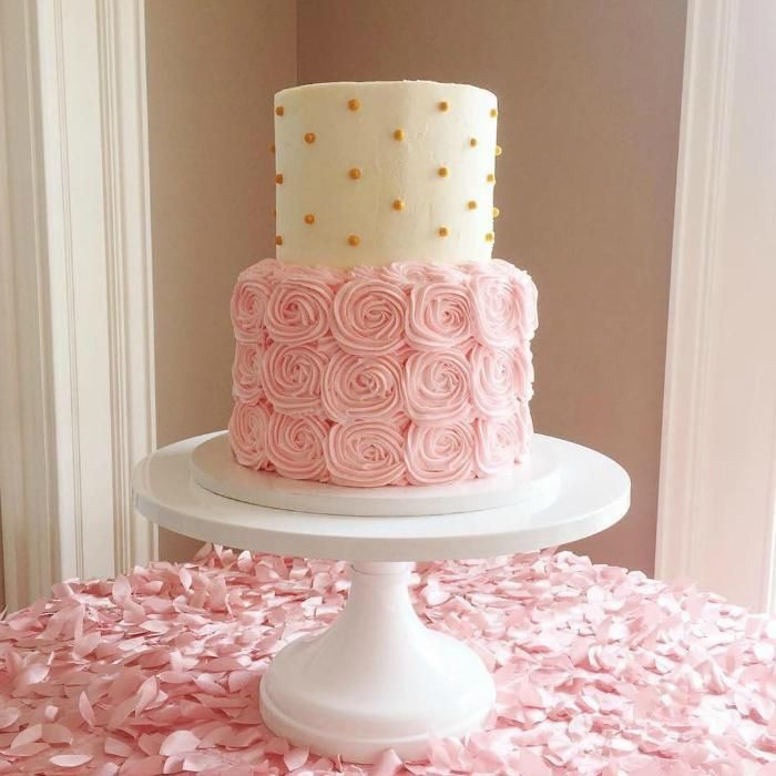 Terrific Blush White And Gold Cake On 16 Inch White Cakestand I With Personalised Birthday Cards Akebfashionlily Jamesorg