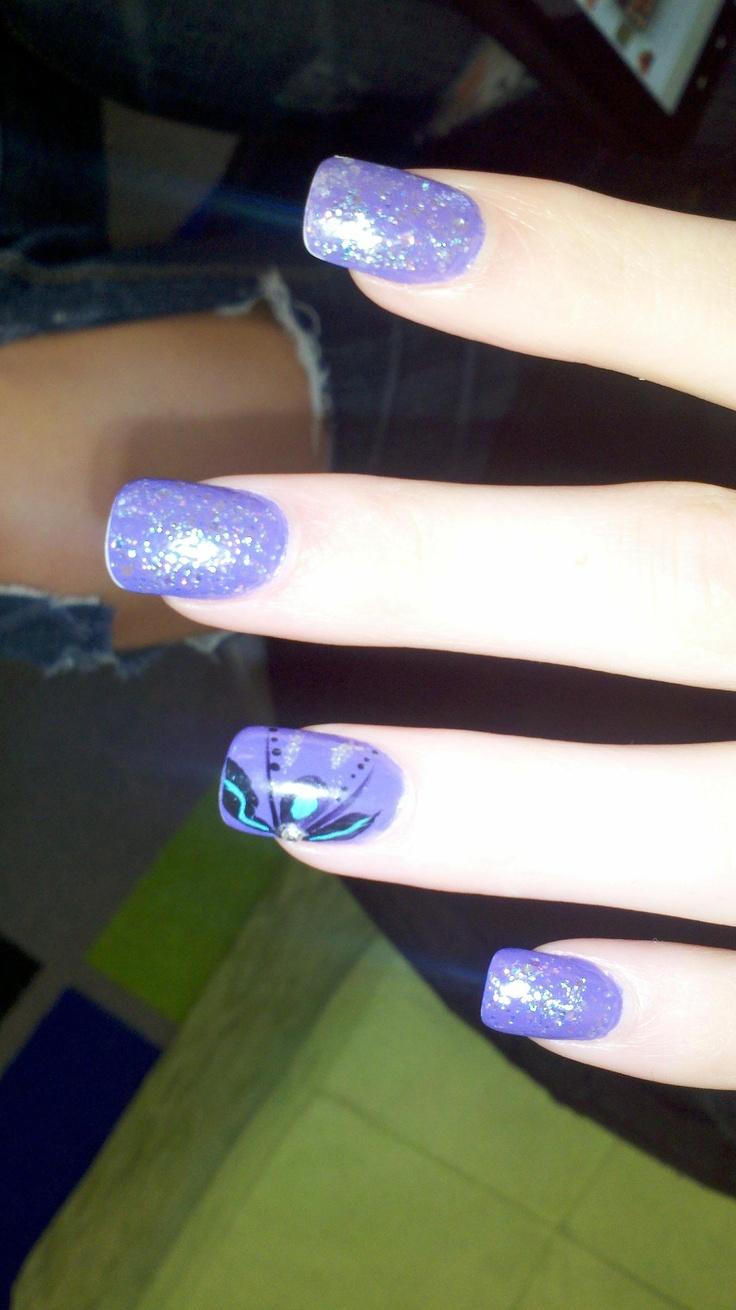 69 best Purple Nails images on Pinterest | Nail art designs, Nail ...