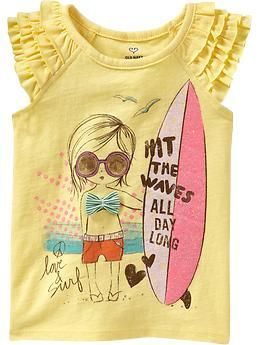 Hit the waves all day long. So cute! Old navy girls t $12.94