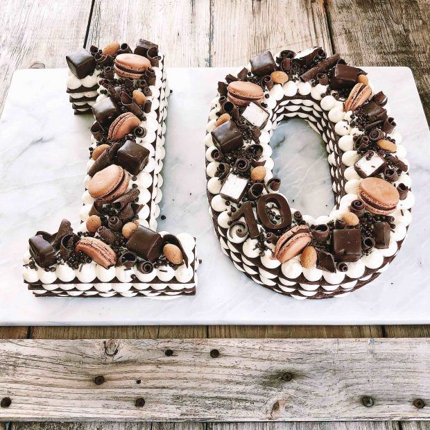 How To Make A Number  Out Of Cake
