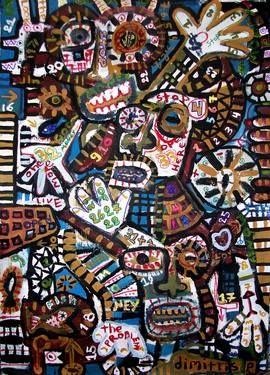 "Saatchi Art Artist dimitris p; Painting, ""greedy people"" #art"