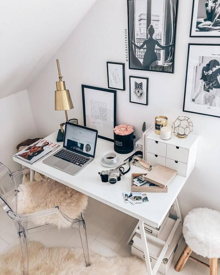 25 Small Home Office Ideas For Men Women Space Saving Layout Home Office Layouts Home Office Design Small Home Office