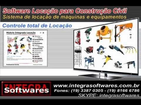 Software Locação de maquinas e equipamentos na construção civil