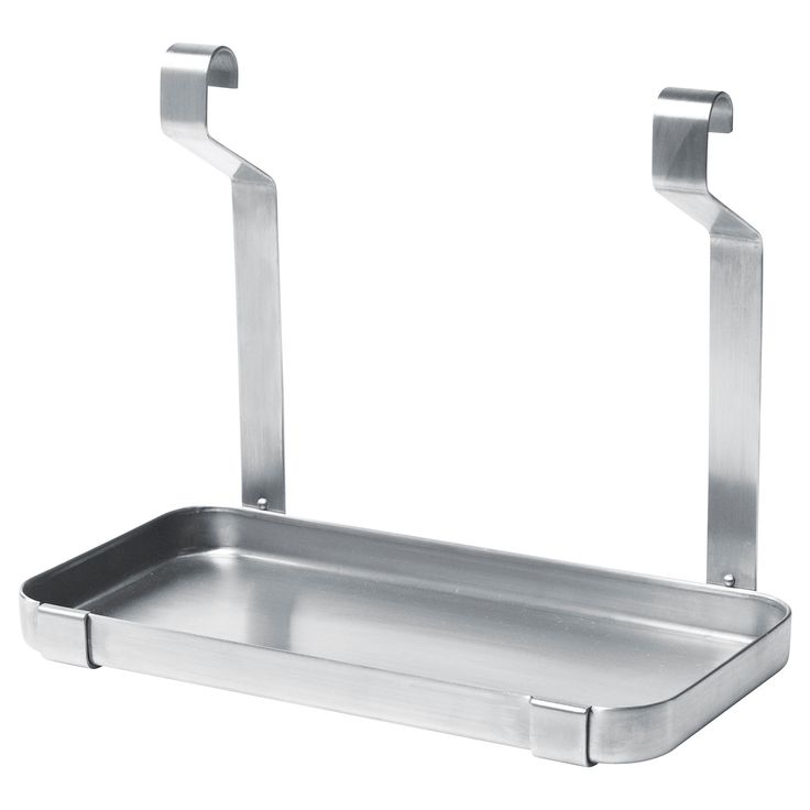 GRUNDTAL Shelf, stainless steel $9.99	 Article Number:  302.197.09 Can be hung on GRUNDTAL rail; clears work space on the countertop