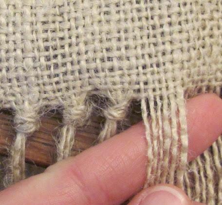 <h1>Como hacer un mantel de arpillera, sin coser, muy facil</h1> : VCTRY's BLOG