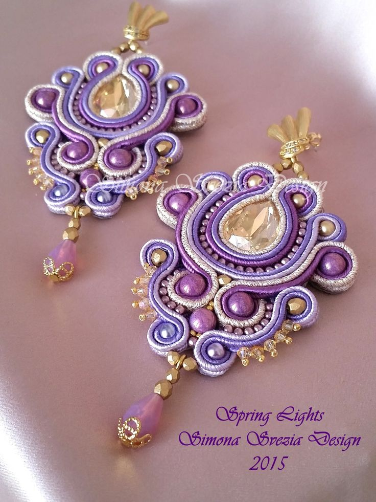 """""""Spring Lights"""", nuovi orecchini in soutache! Realizzati con cristalli Swarovski, perle Swarovski e perle di cristallo ceco. Disponibili ne..."""