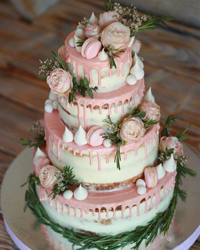 Торт на свадьбу из крема