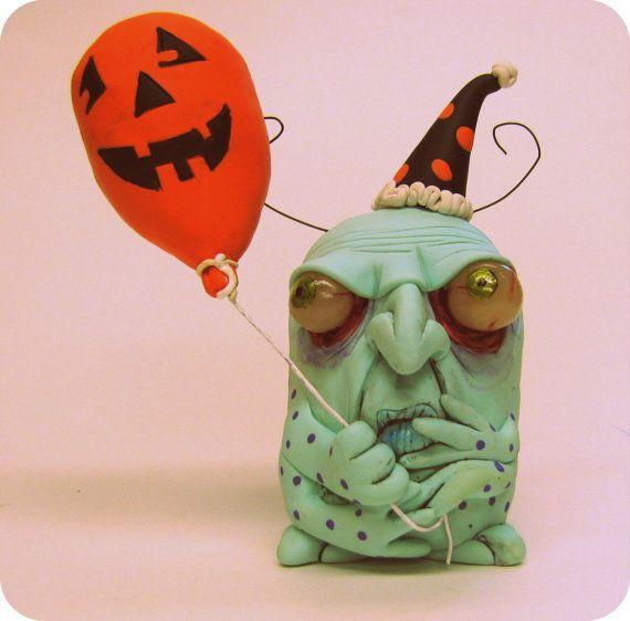 lowbrow art sculpture Halloween Party bug ooak art by mealymonster