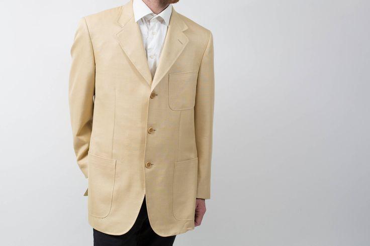 """Mens  Ravazzolo Sports Jacket Blazer / Vintage Large Beige Camel """"Arte Della Sartoria"""" Suit Coat by PrincipalVintage on Etsy"""