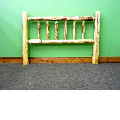 Rustic Pine Headboard - Perfect for your cabin! Free Shipping at midwestlogfurniture.com