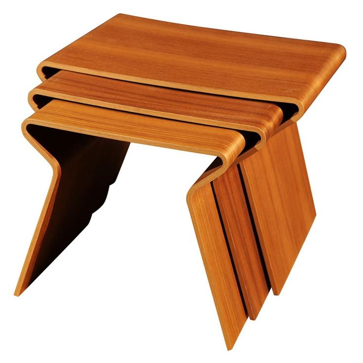 Nesting Tables by Grete Jaik  #Tables #Grete_Jaik #Danish_Modern