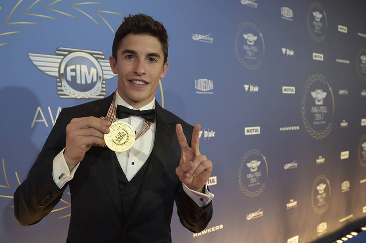 Newly-crowned MotoGP World Champion Marc Márquez was awarded in Andorra during the prestigious FIM - Fédération Internationale de Motocyclisme Gala which gathered together Champions from all disciplines on two wheels  Photo Credit Reygondeau/GoodShoot #2017FIMAwardsCeremony #Big6 #MotoGP #SixTimesWorldChampion #imf #indianmotofest