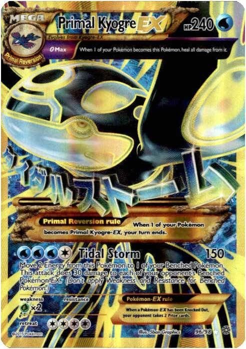 Pokemon X & Y Ancient Origins Ultra Rare Holo Full Art Primal Kyogre-EX #96