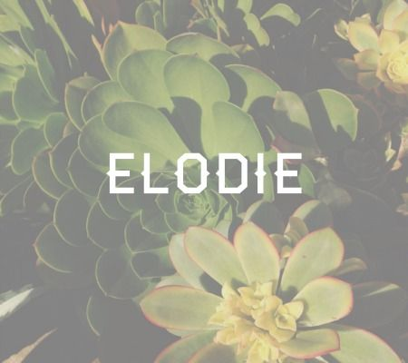"Elodie.. This name happens to be one of my all-time favorite baby names. It's just unique enough to keep it interesting, but stays out of the ""trying to hard"" territory. It's meaning is ""marsh flower""."