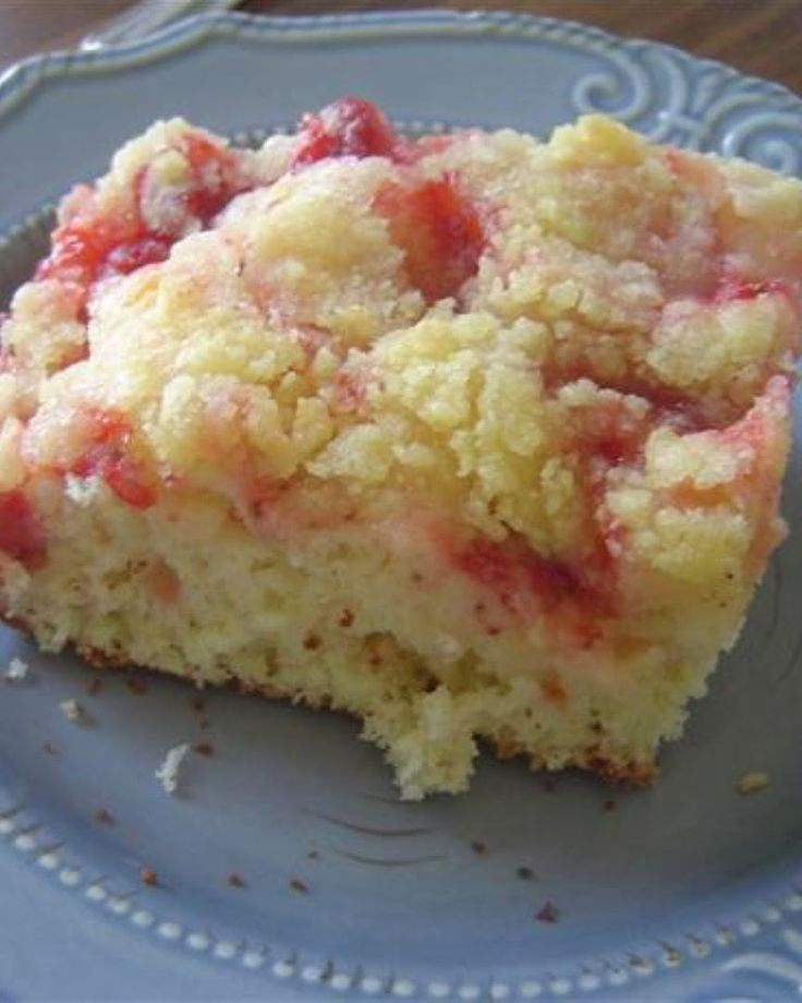 Strawberry Coffee Cake | Good for a special occasion breakfast.