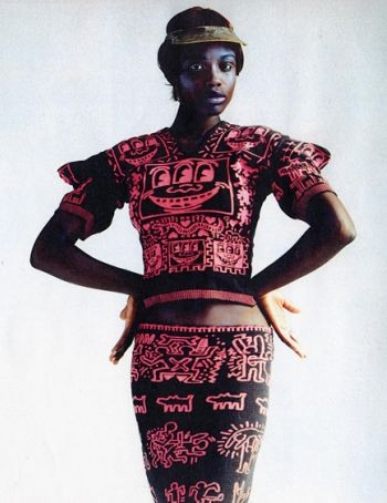 Vivienne Westwood and Keith Haring collaboration in the '80s