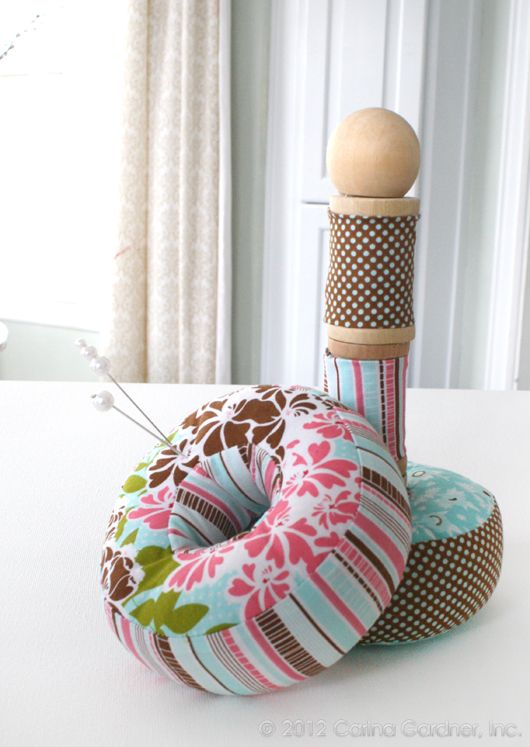 Riley Blake Designs -- Cutting Corners: Double Ringed Pincushion Tutorial