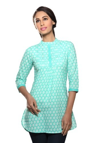 Akkriti Women's Indian Cotton Printed Kurti