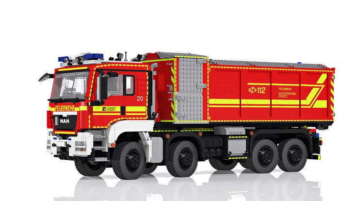 LEGO MAN TGS Hooklift Truck 8x8 - Wechselladerfahrzeug | von Niklas-B