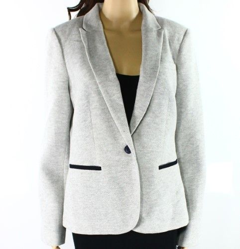 Tommy Hilfiger Gray Heather Women's Size 12 Elbow Patch Jacket
