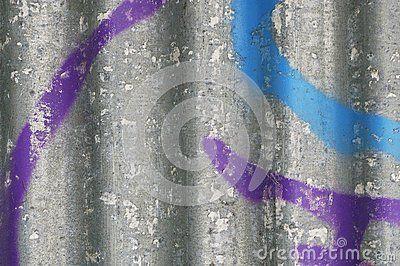 Close up grafitti on metal sheet