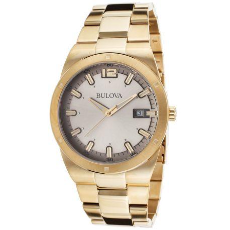 Reloj Bulova Analógico Cuarzo Oro amarillo Modelo 97B137