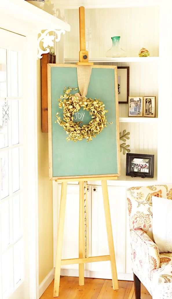«« have to get my easel back »» Chalkboards, chalkboards, chalkboards in your home decor! So many creative and fun things you can do with them!