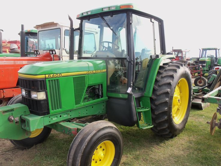 2nd John Deere 6400 we saw this day.2 wheel drive.85hp
