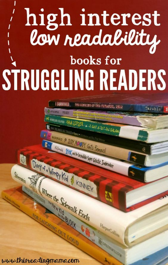 High Interest Low Readability Book List for Struggling Readers